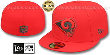 Rams NFL TEAM-BASIC Fire Red-Charcoal Fitted Hat by New Era