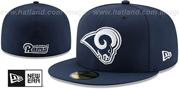 Rams 'NFL TEAM-BASIC' Navy Fitted Hat by New Era