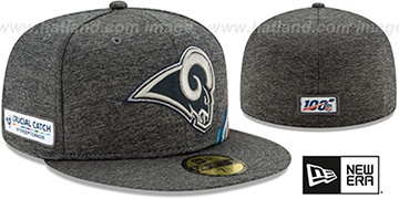 Rams ONFIELD CRUCIAL CATCH Grey Fitted Hat by New Era