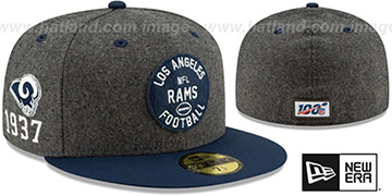 Rams 'ONFIELD SIDELINE HOME' Charcoal-Navy Fitted Hat by New Era