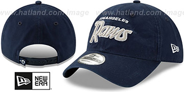 Rams RETRO-SCRIPT SNAPBACK Navy Hat by New Era