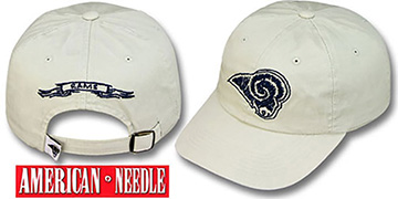 Rams SKETCH Hat by American Needle - stone