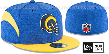 Rams TB HELMET HOME ONFIELD STADIUM Royal-Gold Fitted Hat by New Era