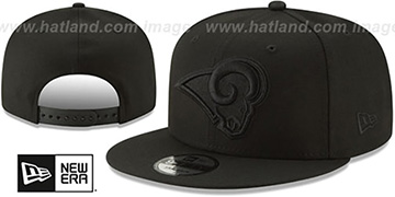 Rams TEAM-BASIC BLACKOUT SNAPBACK Hat by New Era