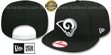 Rams 'TEAM-BASIC SNAPBACK' Black-White Hat by New Era