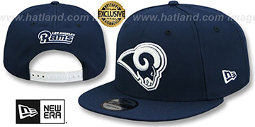 Rams 'TEAM-BASIC SNAPBACK' Navy-White Hat by New Era