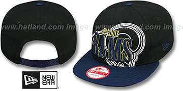 Rams THROUGH SNAPBACK Black-Navy Hat by New Era