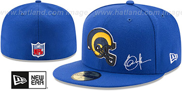 Rams THROWBACK DICKERSON STATS Royal Fitted Hat by New Era
