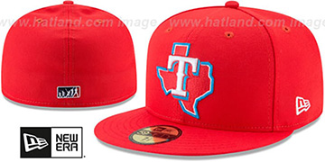 Rangers 2017 MLB LITTLE-LEAGUE Red Fitted Hat by New Era