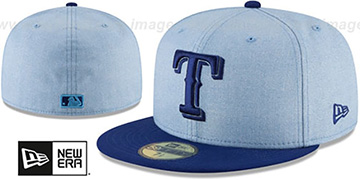 Rangers 2018 FATHERS DAY Sky-Royal Fitted Hat by New Era