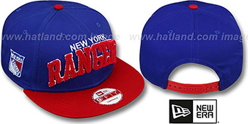 Rangers CHENILLE-ARCH SNAPBACK Royal-Red Hat by New Era