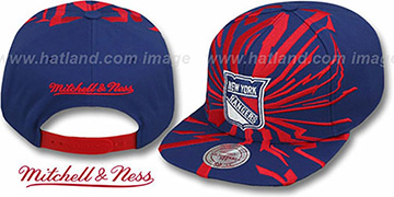 Rangers 'EARTHQUAKE SNAPBACK' Navy Hat by Mitchell & Ness