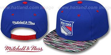 Rangers KNIT-WEAVE SNAPBACK Royal-Multi Hat by Mitchell and Ness