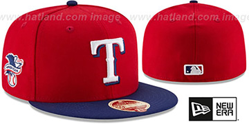Rangers 'MLB WOOL-STANDARD' Red-Royal Fitted Hat by New Era