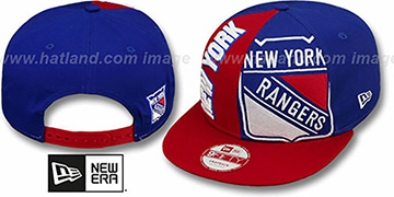 Rangers NE-NC DOUBLE COVERAGE SNAPBACK Hat by New Era