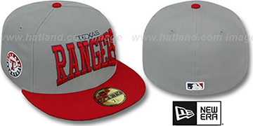 Rangers 'PRO-ARCH' Grey-Red Fitted Hat by New Era