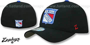 Rangers 'SHOOTOUT' Black Fitted Hat by Zephyr