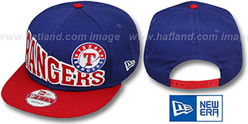 Rangers STOKED SNAPBACK Royal-Red Hat by New Era