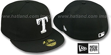 Rangers 'TEAM-BASIC' Black-White Fitted Hat by New Era