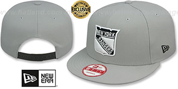 Rangers 'TEAM-BASIC SNAPBACK' Grey-Black Hat by New Era