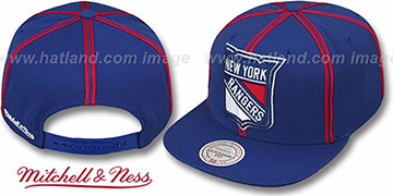 Rangers 'XL-LOGO SOUTACHE SNAPBACK' Navy Adjustable Hat by Mitchell & Ness