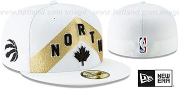 Raptors '18-19 CITY-SERIES' White Fitted Hat by New Era