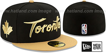 Raptors 19-20 'CITY-SERIES' Black-Tan Fitted Hat by New Era