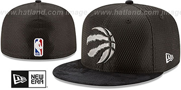 Raptors 2017 ONCOURT DRAFT Black Fitted Hat by New Era