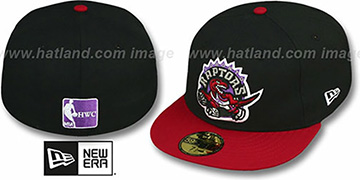 Raptors '2T TEAM-BASIC' Black-Red Fitted Hat by New Era