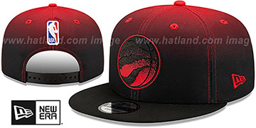 Raptors BACK HALF FADE SNAPBACK Hat by New Era