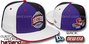 Raptors CONFERENCE 'PINWHEEL' Purple-Black-White Fitted Hat
