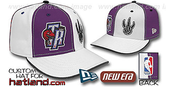 Raptors 'DOUBLE WHAMMY' Purple-White Fitted Hat