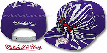 Raptors 'EARTHQUAKE SNAPBACK' Purple Hat by Mitchell & Ness