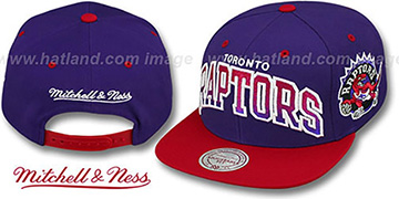 Raptors 'GRADIANT-ARCH SNAPBACK' Purple-Red Hat by Mitchell & Ness