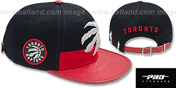 Raptors HORIZON STRAPBACK Black-Red Hat by Pro Standard