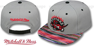 Raptors 'KNIT-WEAVE SNAPBACK' Grey-Multi Hat by Mitchell and Ness