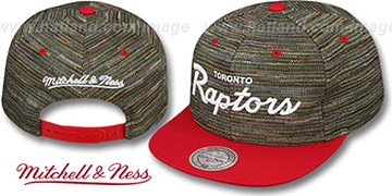 Raptors KNIT-WEAVE SNAPBACK Multi-Red Hat by Mitchell and Ness