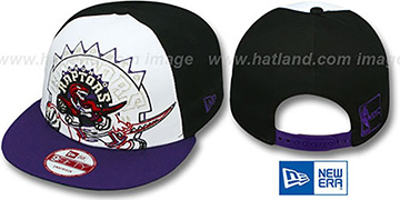 Raptors 'LITTLE-BIG POP SNAPBACK' White-Black-Purple Hat by New Era