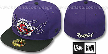 Raptors 'NEW MIXIN' Purple-Black Fitted Hat by New Era