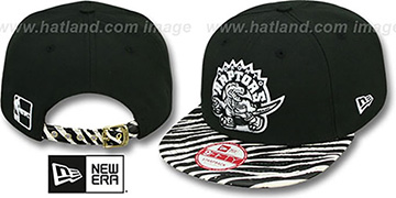 Raptors 'OSTRICH-ZEBRA STRAPBACK' Hat by New Era
