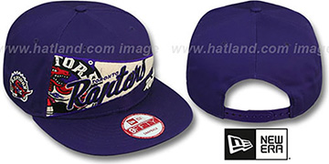 Raptors 'PENNANT SNAPBACK' Purple Hat by New Era