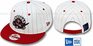 Raptors 'PINSTRIPE BITD SNAPBACK' White-Red Hat by New Era