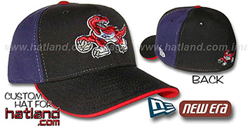 Raptors PINWHEEL Black-Purple Fitted Hat by New Era