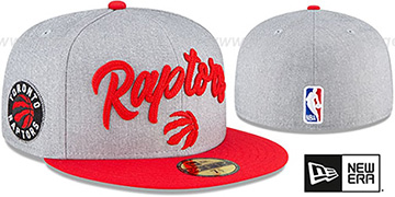 Raptors ROPE STITCH DRAFT Grey-Red Fitted Hat by New Era