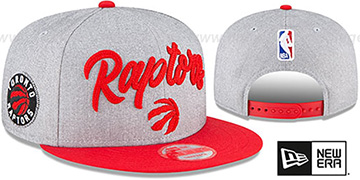Raptors 'ROPE STITCH DRAFT SNAPBACK' Grey-Red Hat by New Era