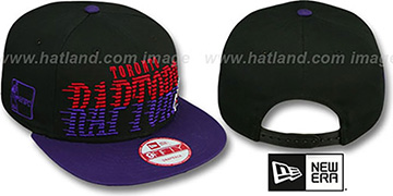Raptors 'SAILTIP SNAPBACK' Black-Purple Hat by New Era