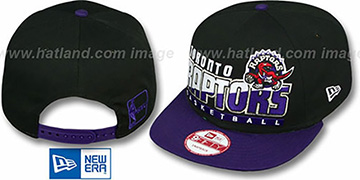 Raptors 'SLICE-N-DICE SNAPBACK' Black-Purple Hat by New Era
