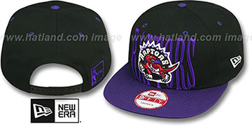 Raptors 'STEP-ABOVE SNAPBACK' Black-Purple Hat by New Era