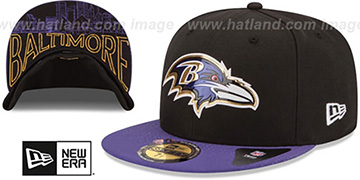 Ravens '2015 NFL DRAFT' Black-Purple Fitted Hat by New Era