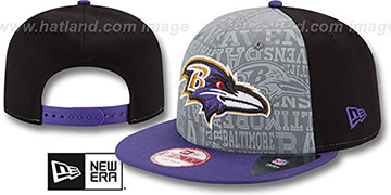 Ravens 2014 NFL DRAFT SNAPBACK Black-Purple Hat by New Era